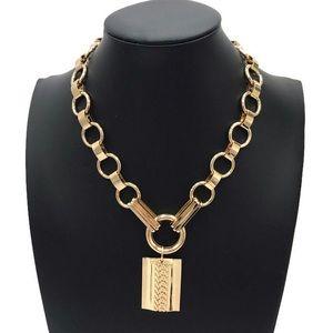 Dannijo Elisa Gold Pendant Necklace Rachel Zoe